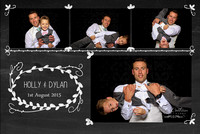 Holly and Dylan's photobooth at Brynkinallt Hall